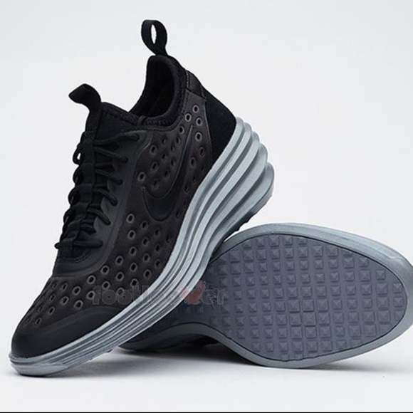 huge selection of b8ded c166d Nike Lunar Elite Sky Hi Black Wedge Sneakers. M 5b202d1c8ad2f95031267d59